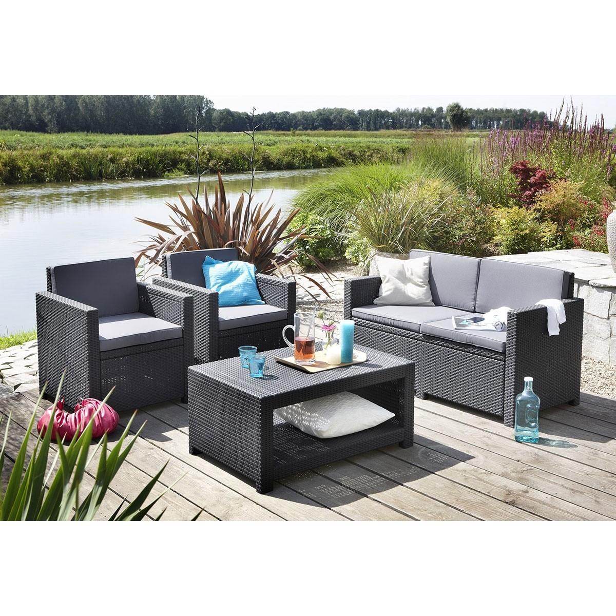 Allibert Monaco Loungeset 4 Delig Grijs In 2020 Outdoor Furniture Sets Garden Furniture Sets Outdoor Living