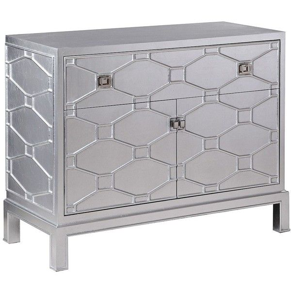 Bassett Mirror Company Ariana Silver Leaf 2 Door Bar