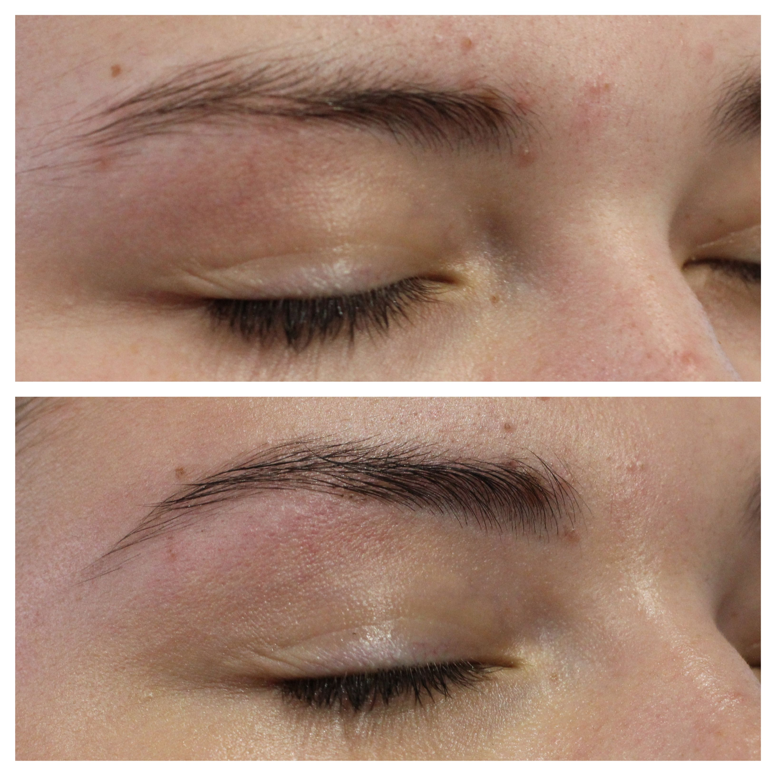Before and after - Brow shape and tint | Brow shaping ...