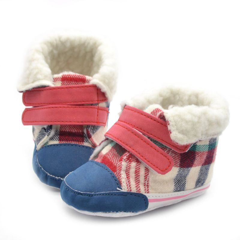 >> Click to Buy << 0-18 M Baby Infants Warm Cotton Snow Boots Plaids Crib Shoes Anti-Slip Sneakers #Affiliate