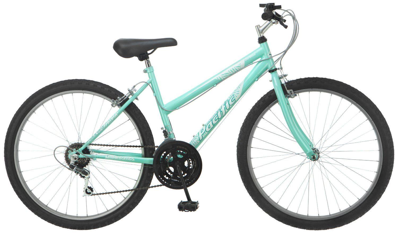 Amazon Com Pacific Women S Stratus Mountain Bike Aqua Small