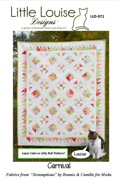 Carnival Quilt Pattern LLD-071 (intermediate, lap and throw)
