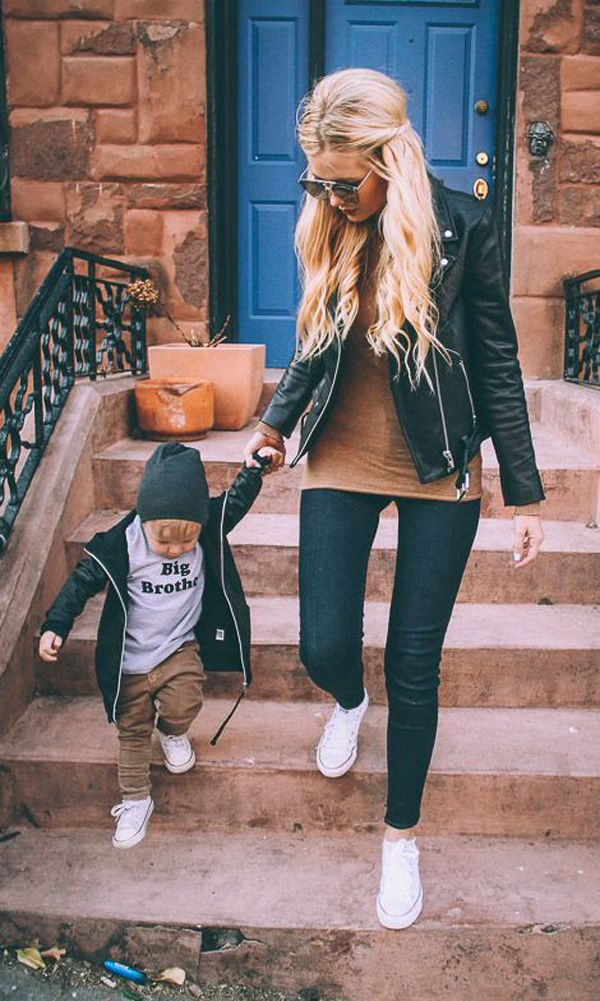 47 Chic And Casual Outfit Ideas For Young Moms | Fashionlookstyle.com | Inspiration Your Fashion And Style #falloutfitsformoms