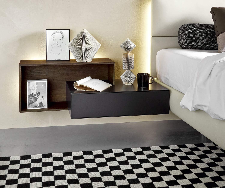 Livitalia Ecletto Nachttisch 1 Schubladen Moderne Nachttische