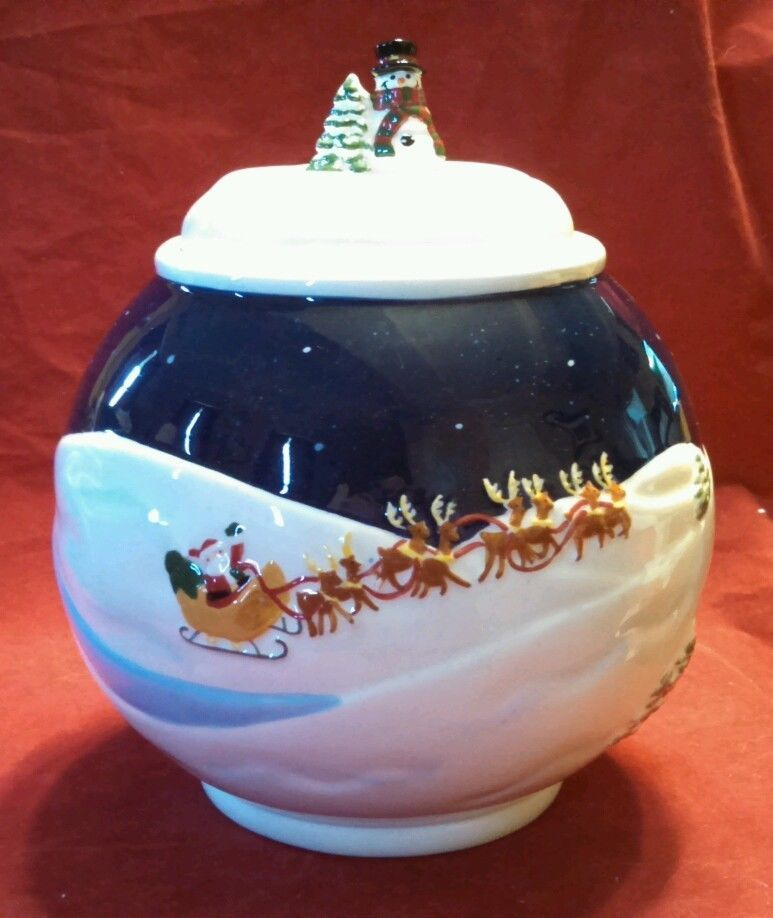 Twas the Night Before Christmas Cookie Jar from Bella Casa by Ganz