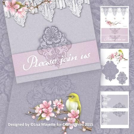 #WeddingLace #CherryBlossom #canary #CardMakingKit #craftsuprint #GateFoldCards #printables #PurpleCards #purple #GreetingCards #DIYCards