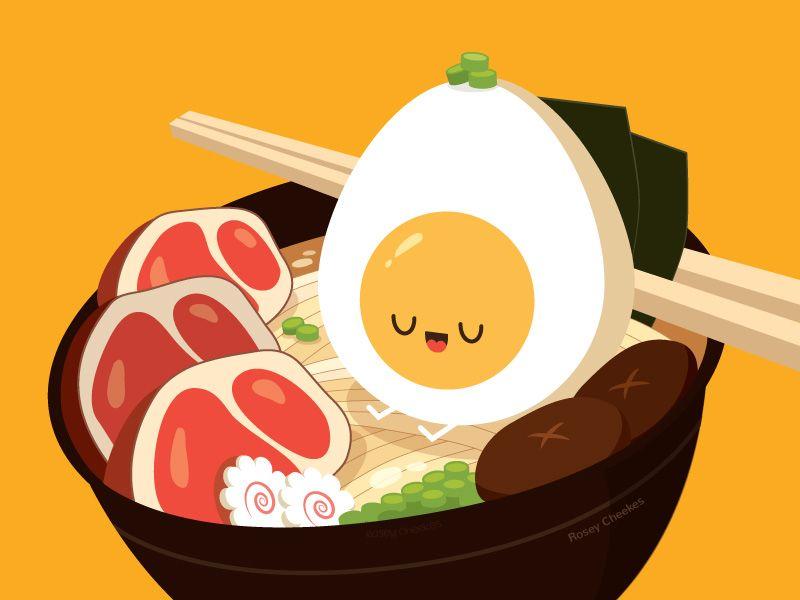 Ramen Noodle Art Food Illustrations Food Art