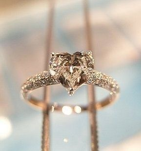 Champagne Heart Shaped Diamond Wedding Ring (Lady Gagau0027s Fiancee Saw It  Here First!)