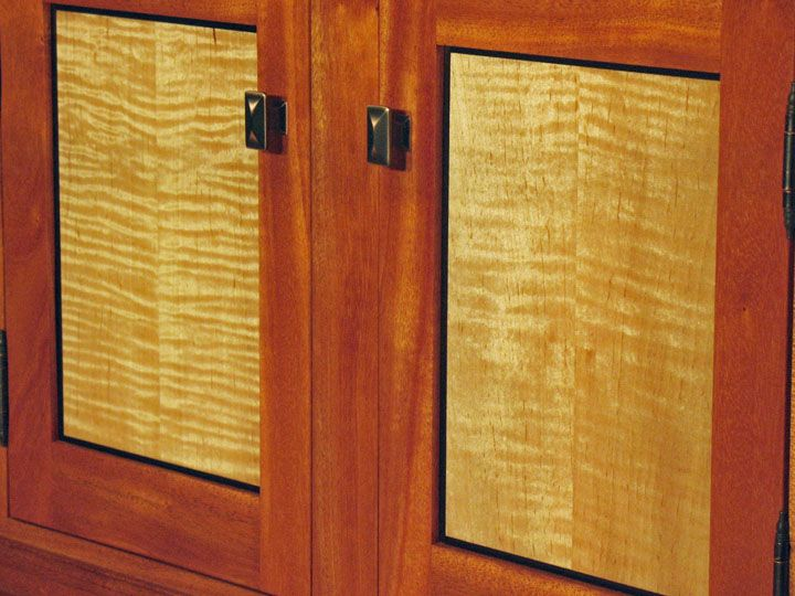 Curly Maple Cabinet Doors Detail Of