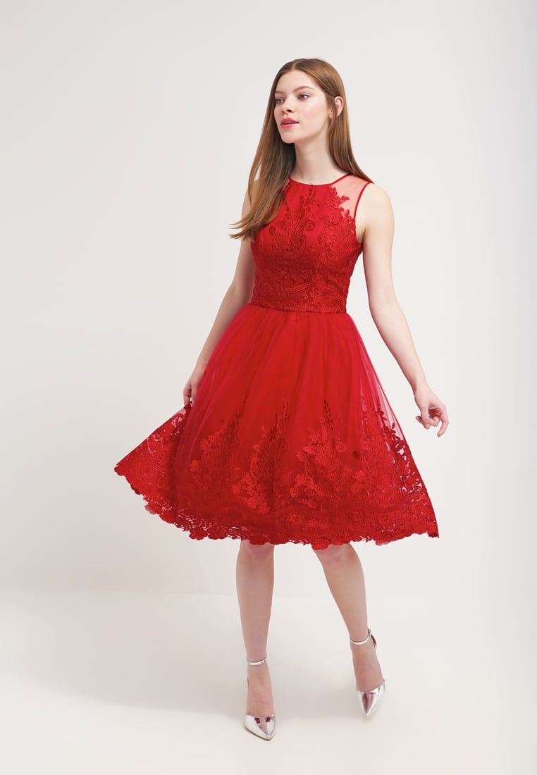Chi Chi London LEONA - Cocktail dress / Party dress - red for £70.00 ...