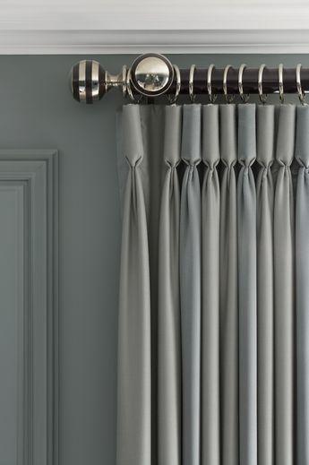 Polished nickel hardware cortinas modernas Pinterest Cortinas