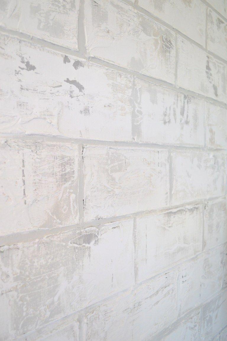 DIY Faux Brick Wall (With images) | Faux brick walls, Diy ...