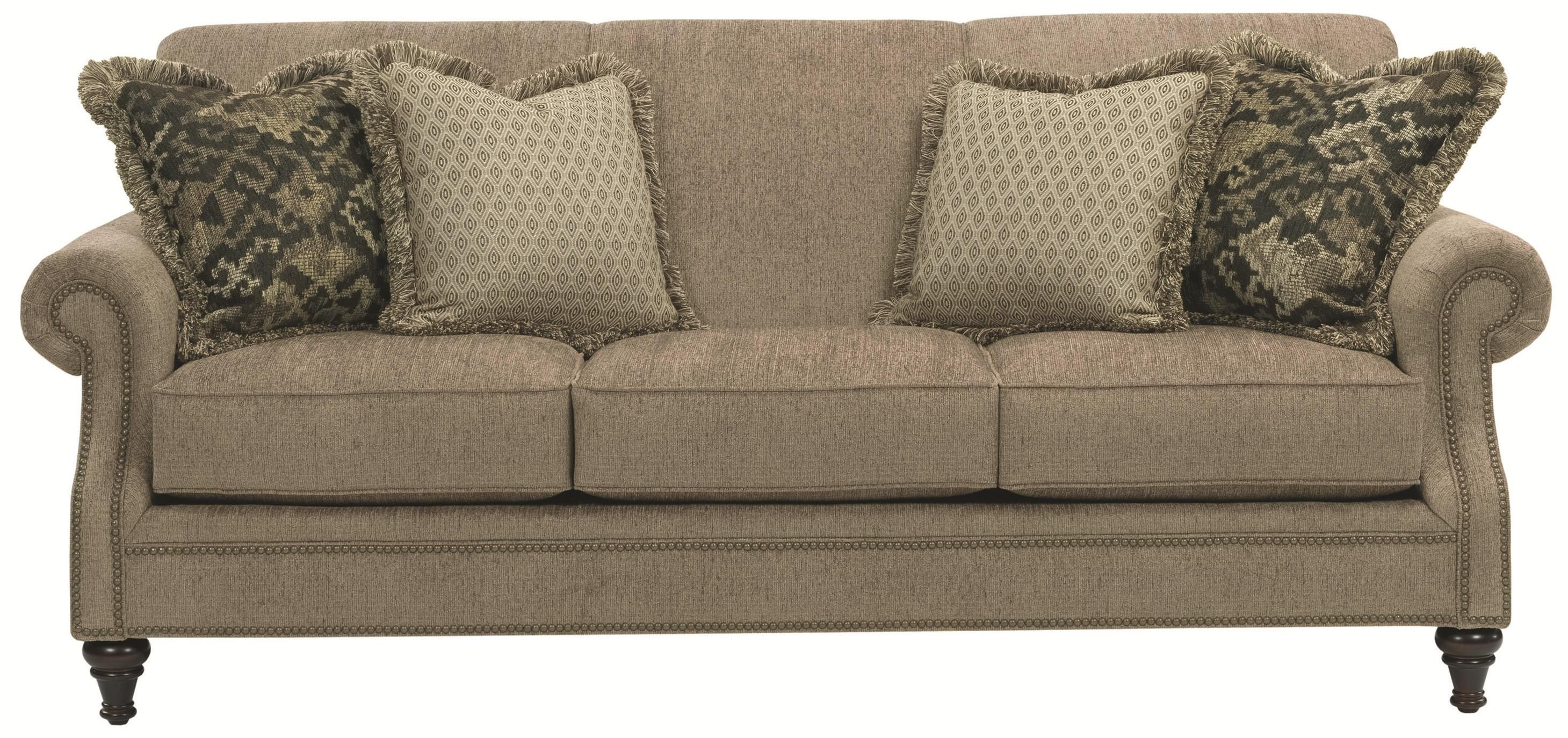 Broyhill Furniture Windsor Sofa With Rolled Arms   Gardiners Furniture    Sofa Baltimore, Towson, Pasadena, Bel Air, Westminster, Catonsville,  Maryland