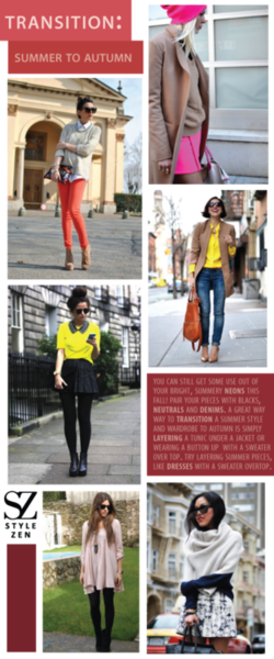 StyleZen Inspirations - Transitions into Fall.