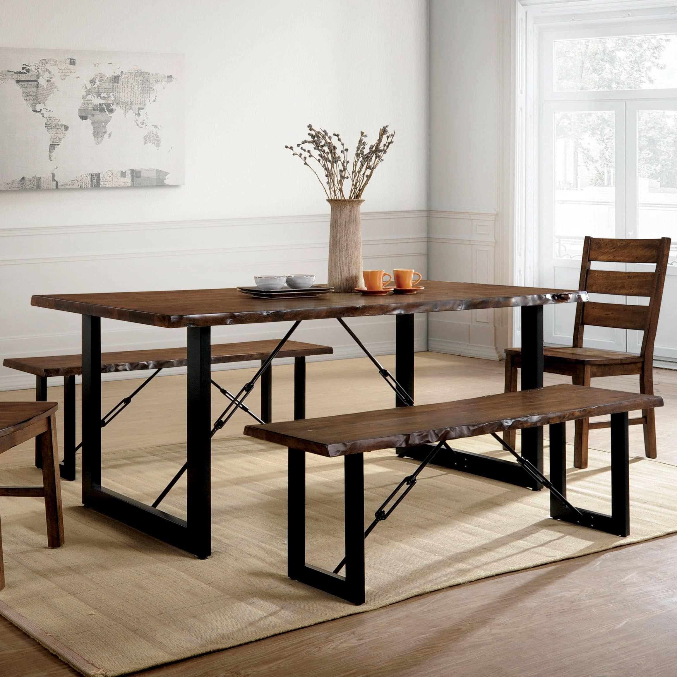 Furniture of America Terele Industrial Walnut 70inch