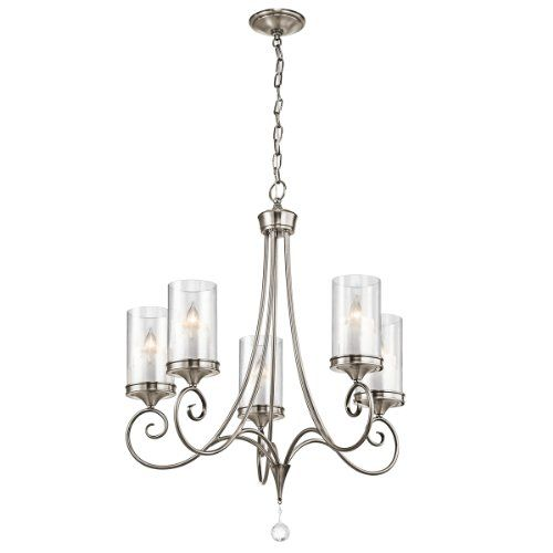 Kichler Dining Room Lighting Awesome Kichler Lighting 42861Clp Lara 5Light Chandelier Classic Pewter Inspiration