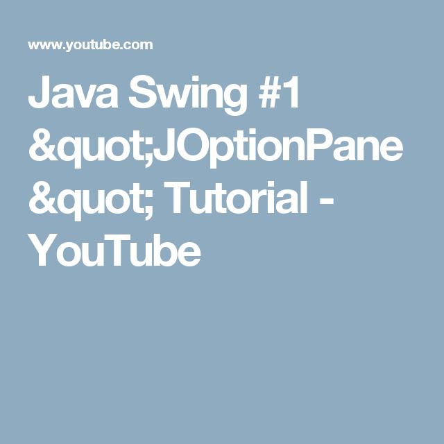 Java Swing #1