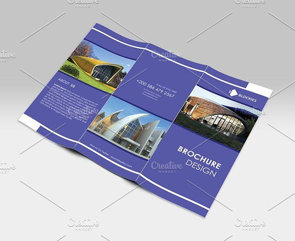 Simple Clean Tri Fold Brochure By Jigsawlab On Creativemarket