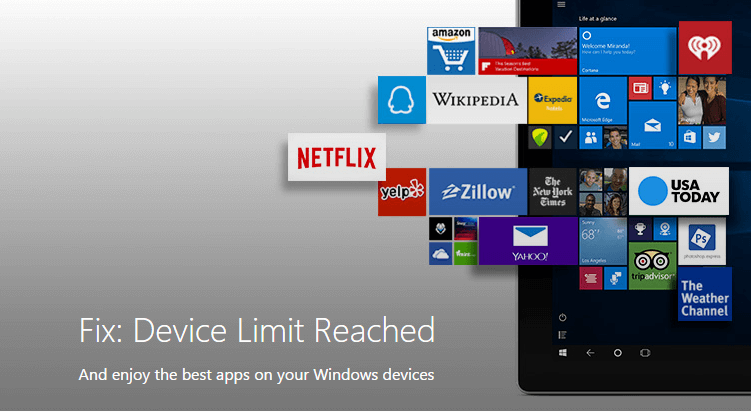 "How to fix ""Device Limit Reached for Installing Apps and"