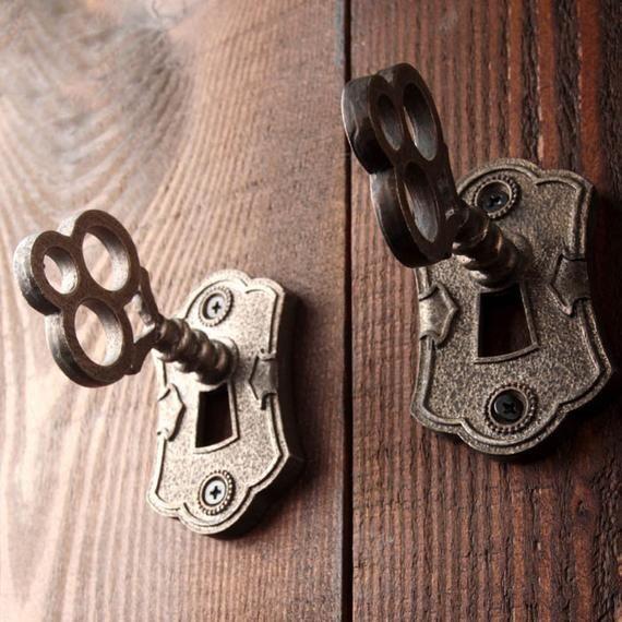 Retro Door Pull Handles Drawer Pull Handles American Door Hardware Door Pull Handles Antique Keys Drawer Pull Handles