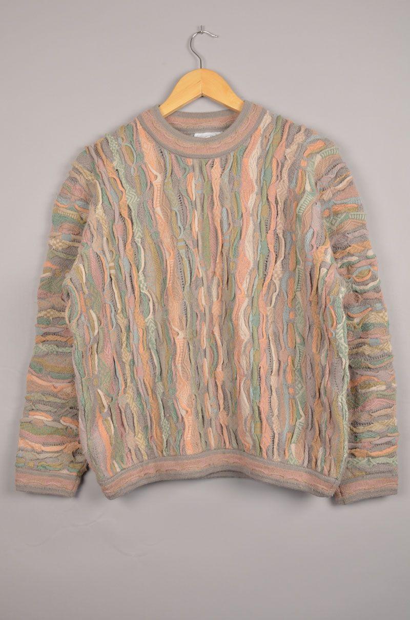 Cuggi Sweater Coogi Crewneck Vintage Coogi Sz M Carlo Colucci Bill Cosby Sweater Grandpa Sweater V Vintage Clothing Online Wool Clothing Vintage Outfits