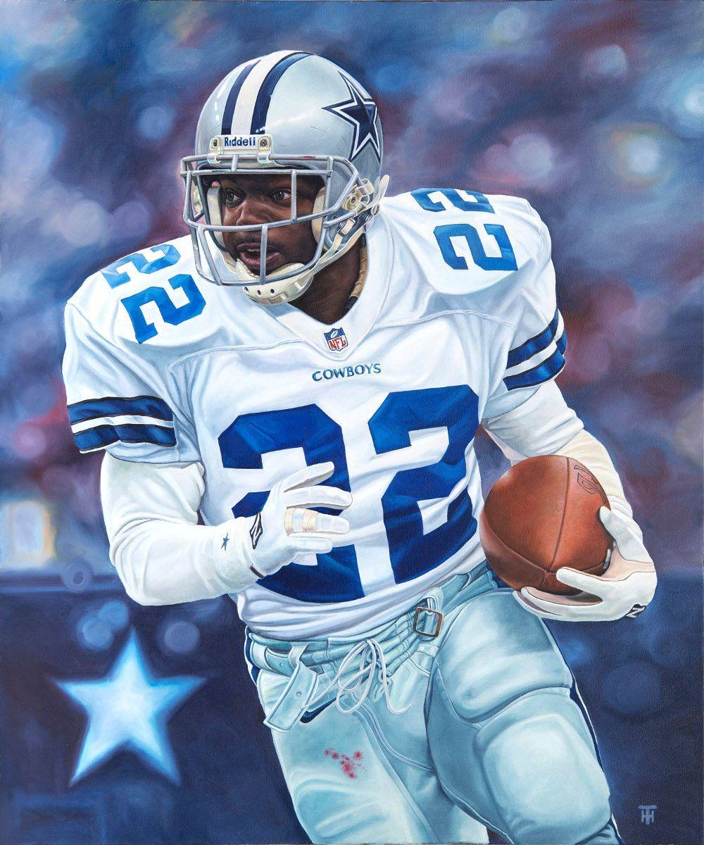 Emmitt Smith, Dallas Cowboys by Tony Harris #NFLFootballBoys ...
