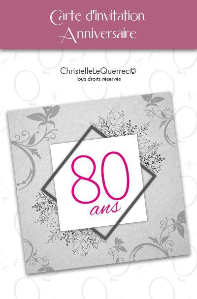 Carte D Invitation Pour Un Anniversaire 80 Ans