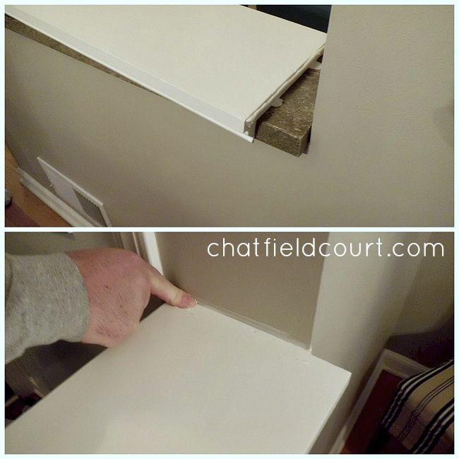 Capping a Knee Wall | staircase | Wall, Pony wall, Half walls