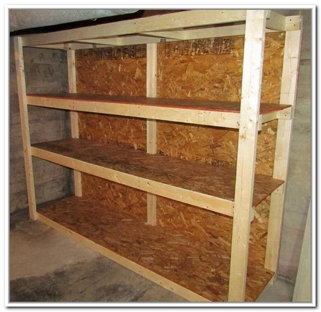 Build Your Own Garage Storage Shelves
