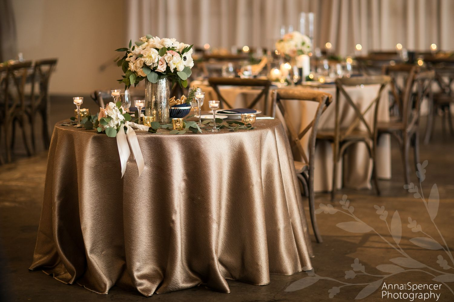 Wedding reception at american spirit works the stave room in atlanta
