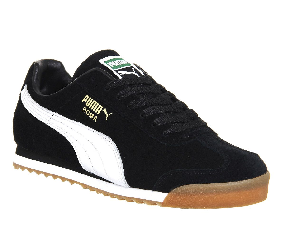 black and pink puma trainers
