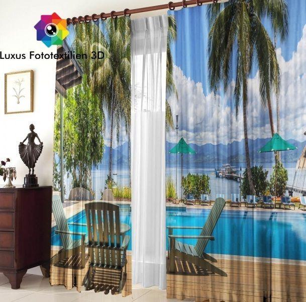 Details zu Fotogardinen 3D  - schlafzimmer günstig online kaufen