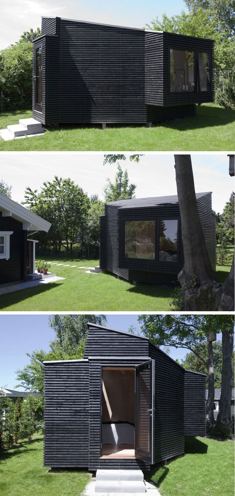 This Backyard Guest House Provides Extra Space For Visitors Backyard Guest Houses Exterior Design Backyard Small Summer House Backyard ideas with guest house