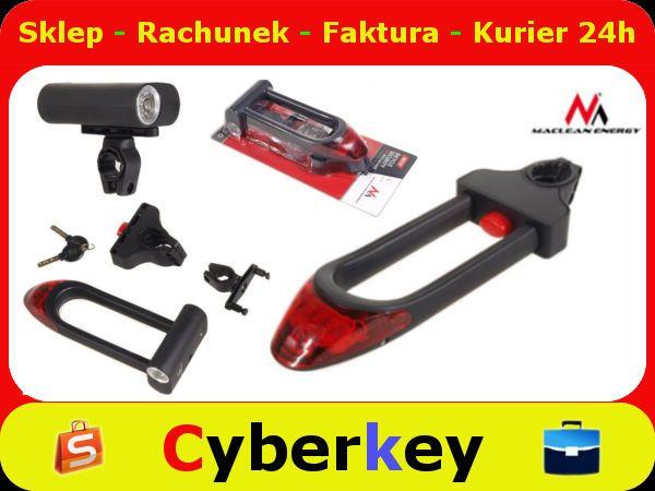 Blokada Zapiecie Roweru 2w1 Lampki Led W Jakosc 5414929520 Oficjalne Archiwum Allegro Vehicle Jumper Cables