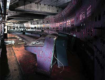 reactor №4 control room