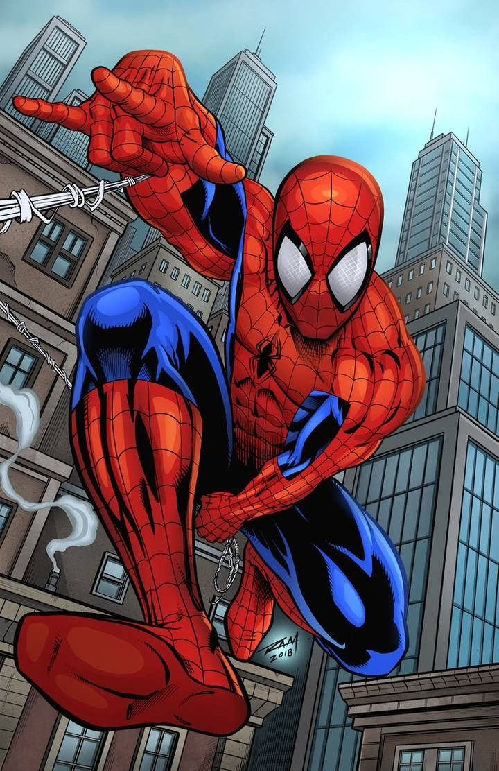 Spidey in Action - Colored Version by robertmarzullo on DeviantArt