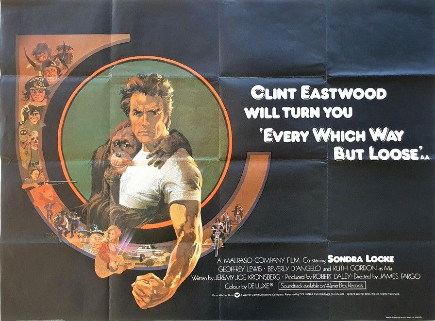 Every Which Way But Loose Lobby Card Movie Poster Clint Eastwood
