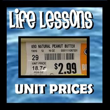 Unit Prices - Life Lessons | Grocery items, Life lessons and Math