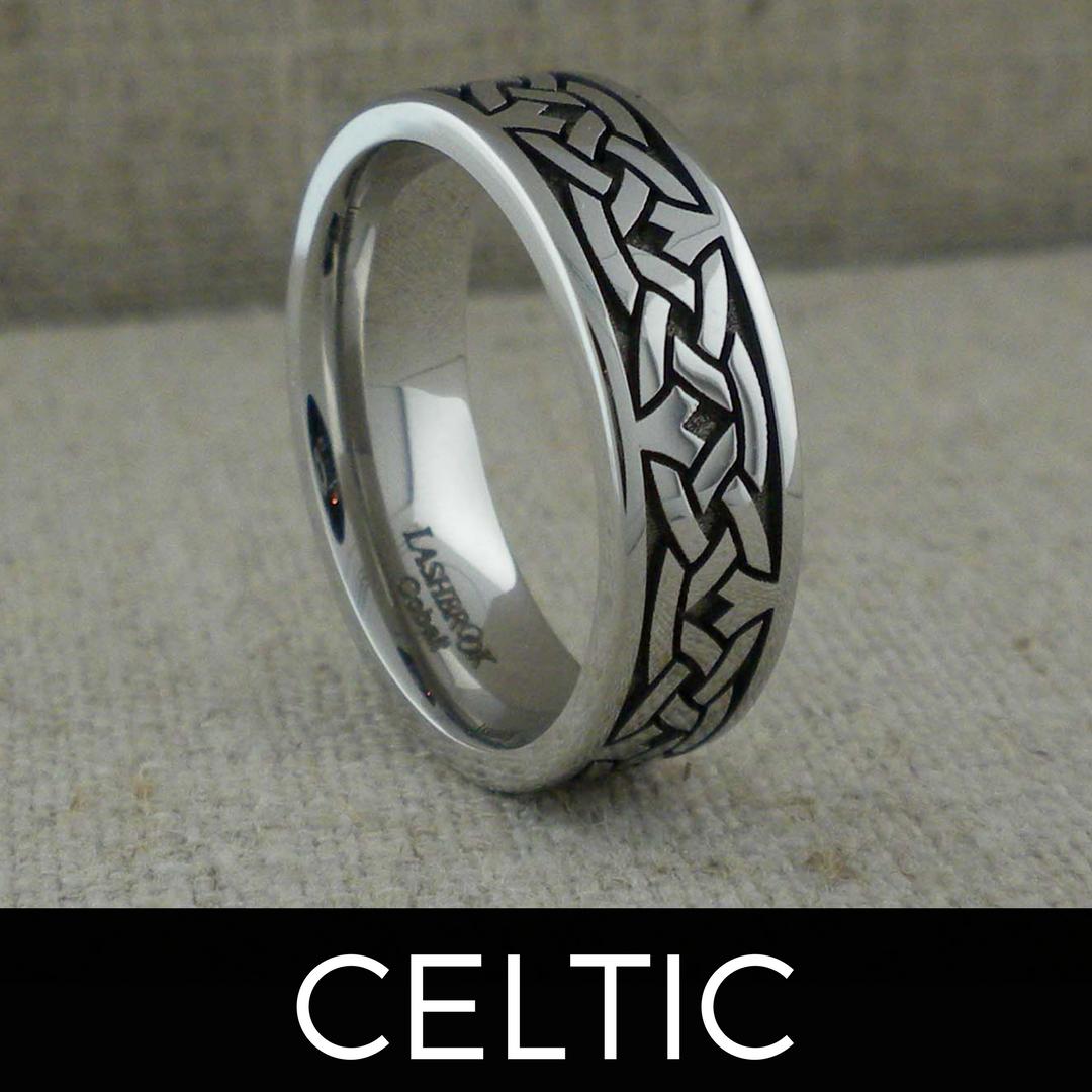 Custom Celtic Knot Wedding Ring in Cobalt Chrome. (With