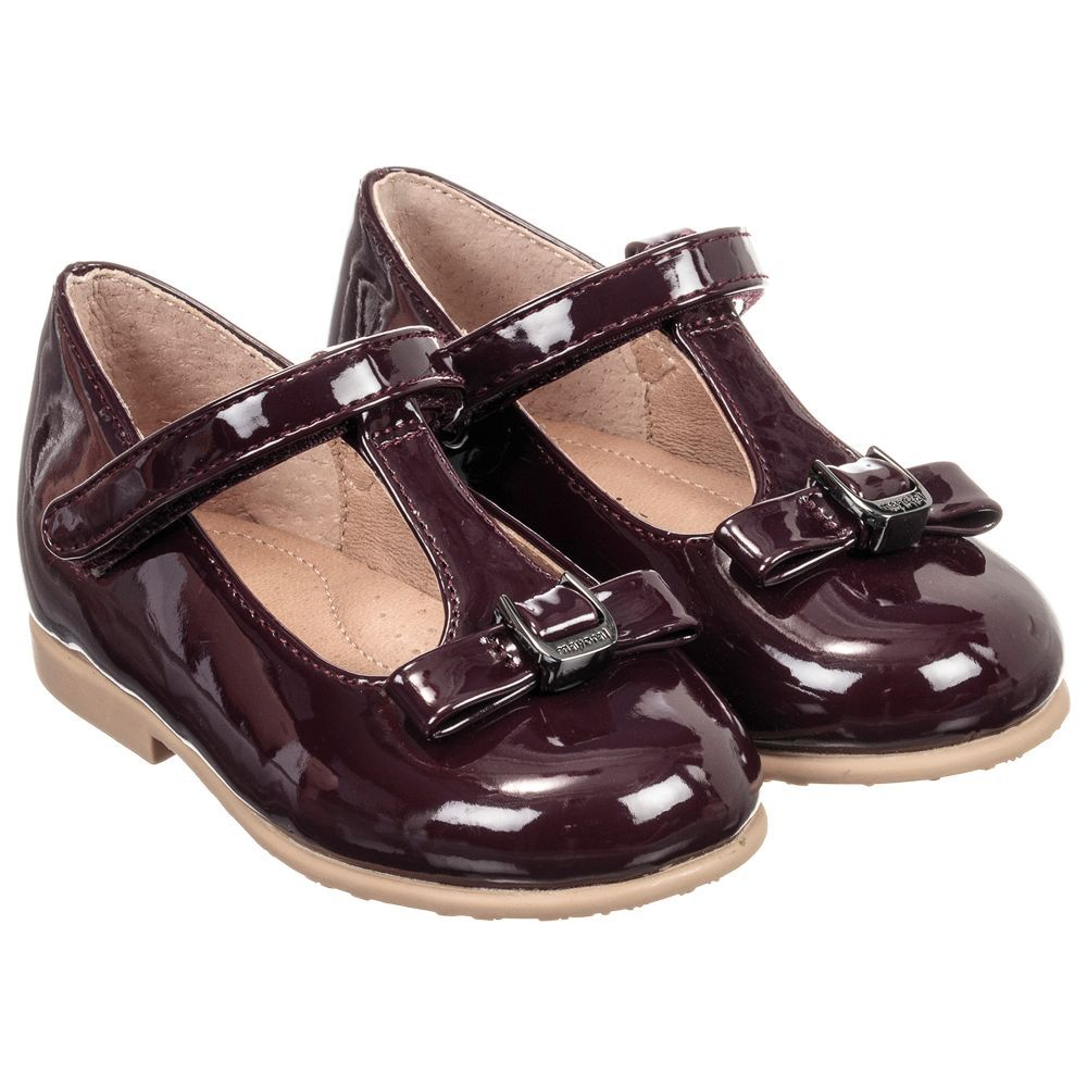 e981a5a4d4b Girls Burgundy Patent Shoes for Girl by Mayoral. Discover more beautiful  designer Shoes for kids online