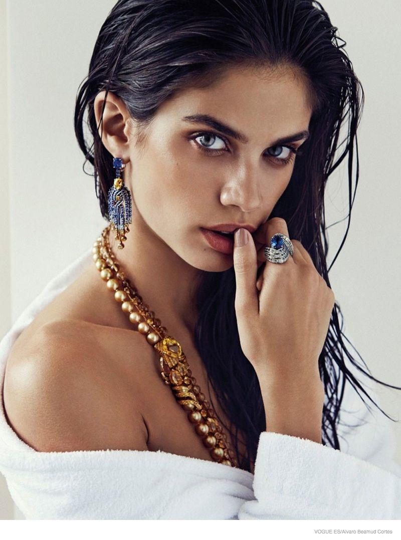 Sara Sampaio Stuns in Jewelry Looks for Alvaro Beamud Cortes in Vogue Spain