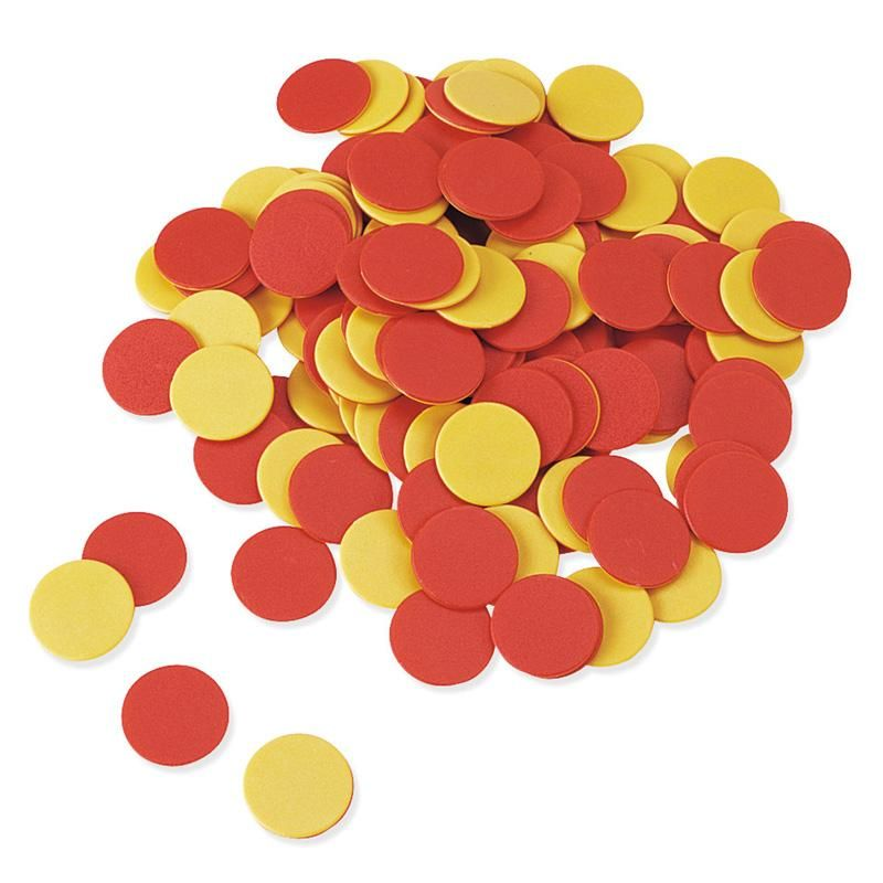 TWO COLOR COUNTERS RED AND YELLOW Learning resources