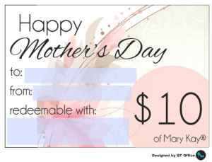 $10-gift-card-qt-office | Mary Kay | Pinterest | Gift certificates ...