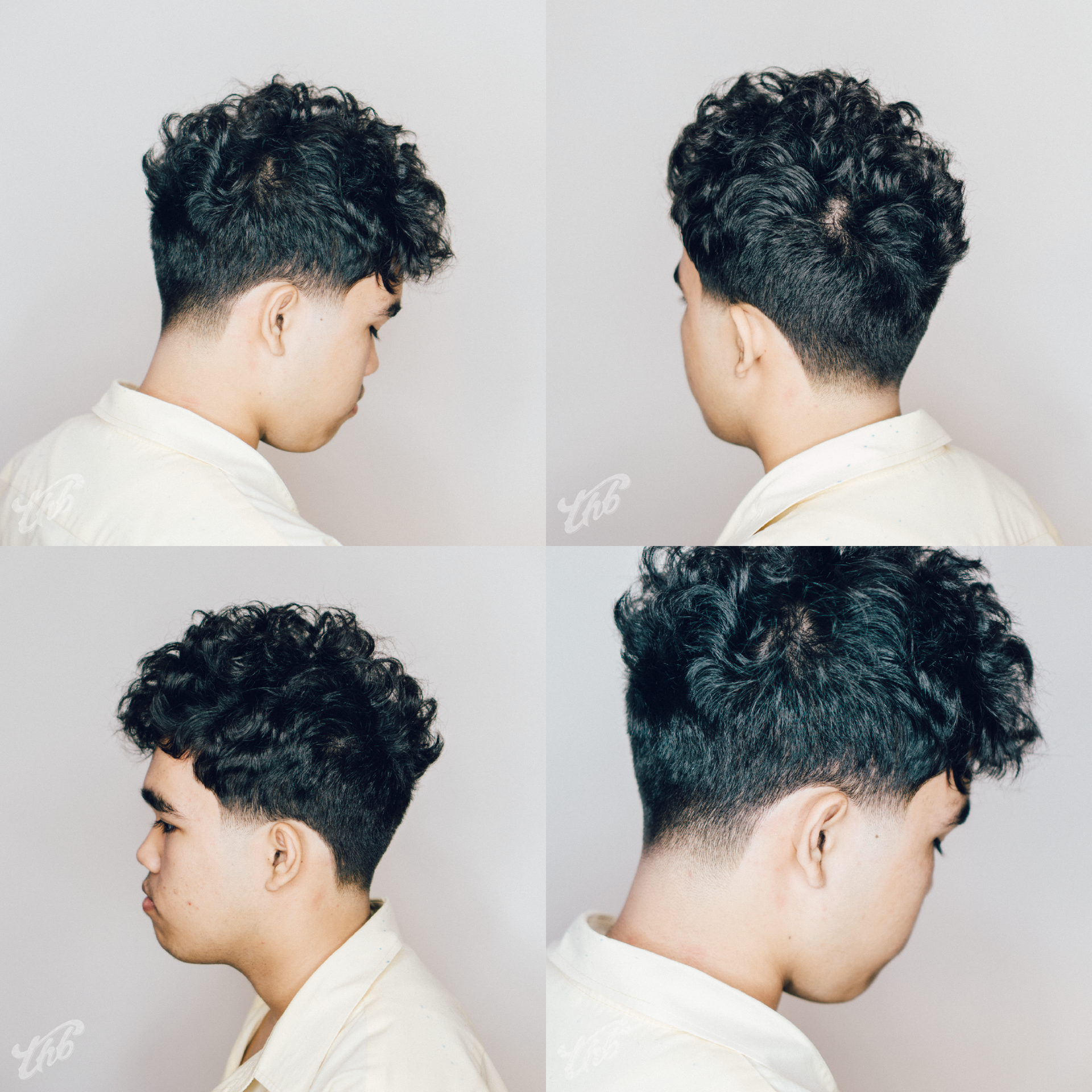 Delightful Haircut By Barber Wilson (@wilson_thebarber) Asian Taper Fade, Curly Top,  Mens