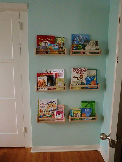 Mini Nursery Library Zelfgemaakte Boekenplanken Boekenplank