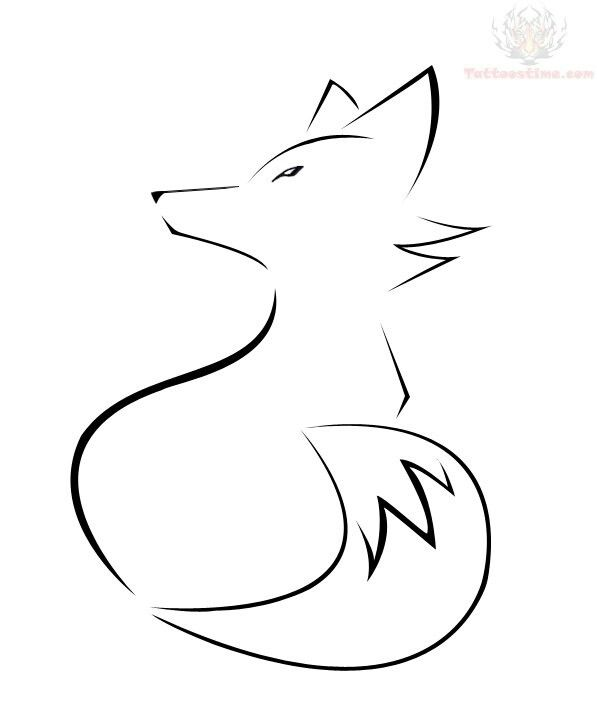 Simple fox outline (With images) | Fox tattoo design, Fox tattoo ...