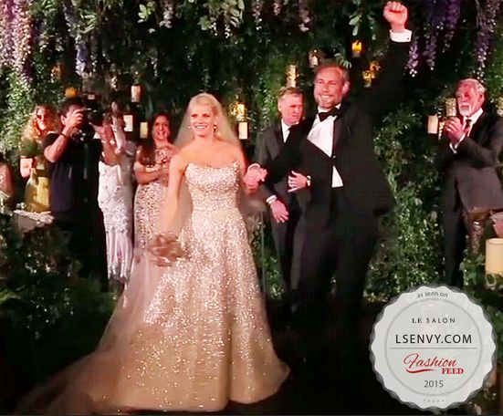 Jessica Simpson\'s sequined A line was AMAZING! #weddings #celebrity ...