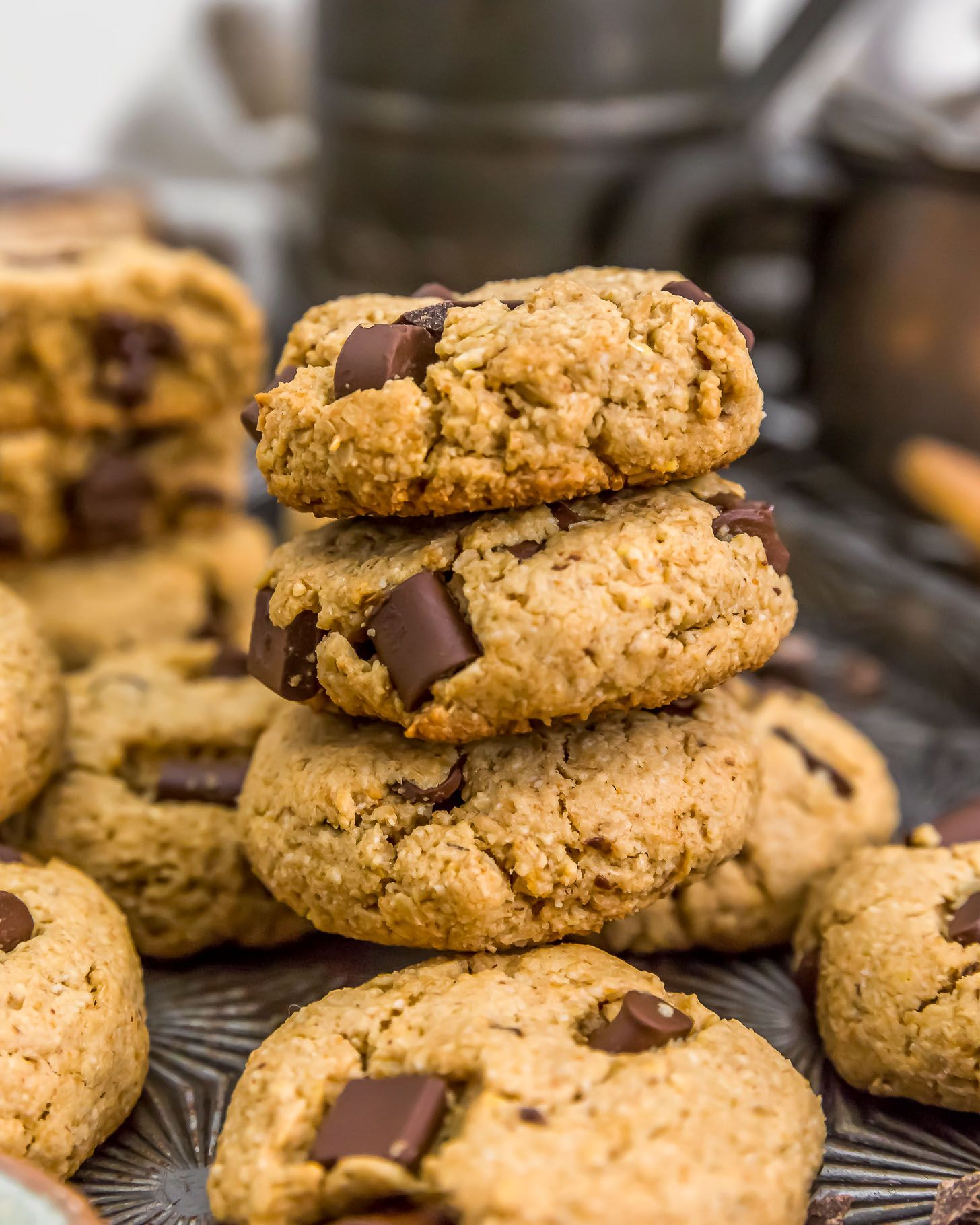 Vegan Peanut Butter Chocolate Chip Cookies Monkey And Me Kitchen Adventures Recipe In 2020 Peanut Butter Chocolate Chip Peanut Butter Chocolate Chip Cookies Chocolate Chip Cookies