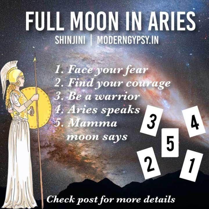 October 2019: Tarot spread for the full moon in Aries #fullmoontarotspread