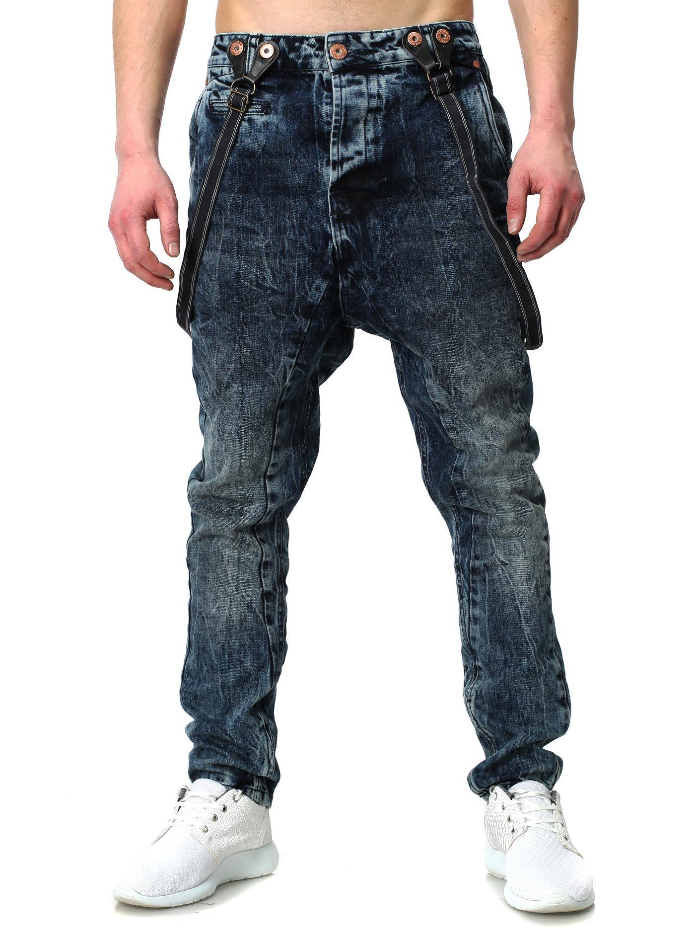 Herren jeans vsct destroyed denim vintage blau